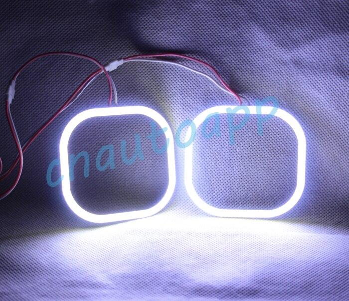 Angel Eyes COB LED Light Square Running Light DRL For Car Motorcycle Headlights Fog Lamp HID