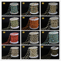 Оптовая продажа! 12 Цвет Крошечные 3 х 4 мм Многоцветный Природный Стекло Грановитая Бисера Четки Цепи Золото Бронза Покрытием Цепи Ожерелье LS40