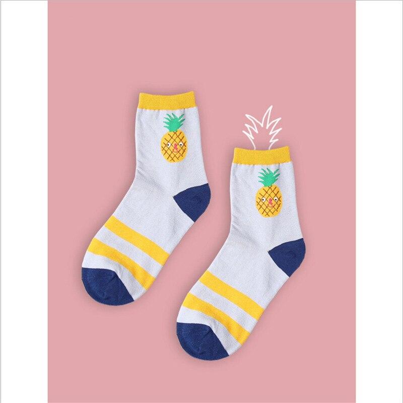 2017 cotton jacquard fruit socks women lovely striped avocado food socks dot point new design ukraine kawaii cute spring socks 1