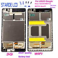 Numériseur d'affichage LCD pour ASUS Google Nexus 7 2nd 2013 ME571 ME571KL ME571K K008 ME572CL ME572 Nexus7C assemblage LCD avec cadre