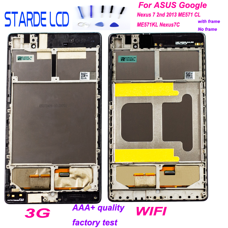 Wyświetlacz LCD Digitizer dla ASUS Google Nexus 7 2nd 2013 ME571 ME571KL ME571K K008 ME572CL ME572 Nexus7C podzespół LCD z ramką