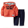 New 2017 baby girls & boy 2piece set  Letter clothing set cotton hooded coat+pant newborn clothes sport suit roupas de bebe