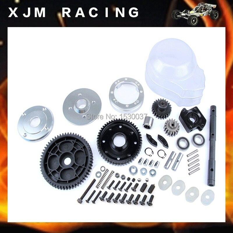 Детали двигателя 2 скорости металлический редуктор набор baja 5B (1:5 масштаб), Baja 2 скорость передачи