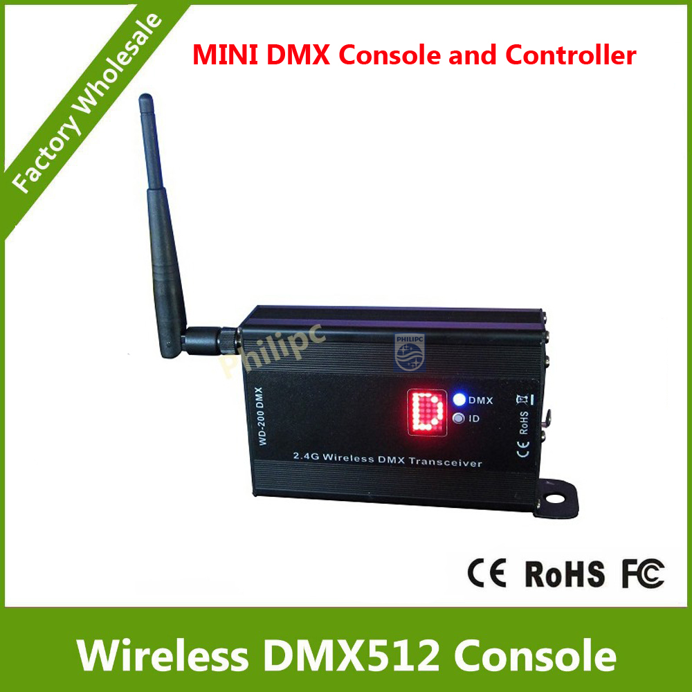 DHL Free Shipping 2.4G DMX512 wireless receiver/transmitter and MATRIX 5x7 display shows the ID directly