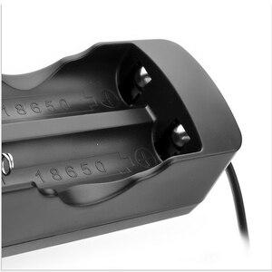 Image 4 - Bateria 18650 v 3.7 mah recarregável, 2 peças, bateria de íon de lítio + um carregador para lanterna led
