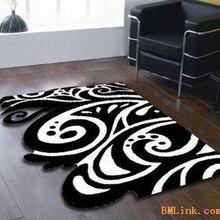 Континентальный Классический черный и белый ковер ручной акриловый ковер для гостиной и спальни в форме цветка подушки на заказ