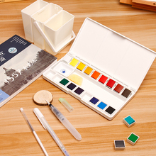 Marie's 18/36Colors Watercolor Paint Set With Paintbrush Portable Solid Watercolor Painting Pigment Set For Drawing Art Supplies
