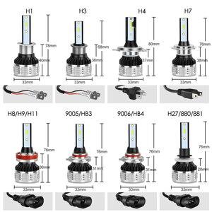 Image 5 - 2Pcs H4 H7 Led H1 H11 H8 H3 HB4 HB3 H27 Led עם ZES שבבי Canbus רכב פנס נורות 80W 12000LM אוטומטי מנורת מכוניות