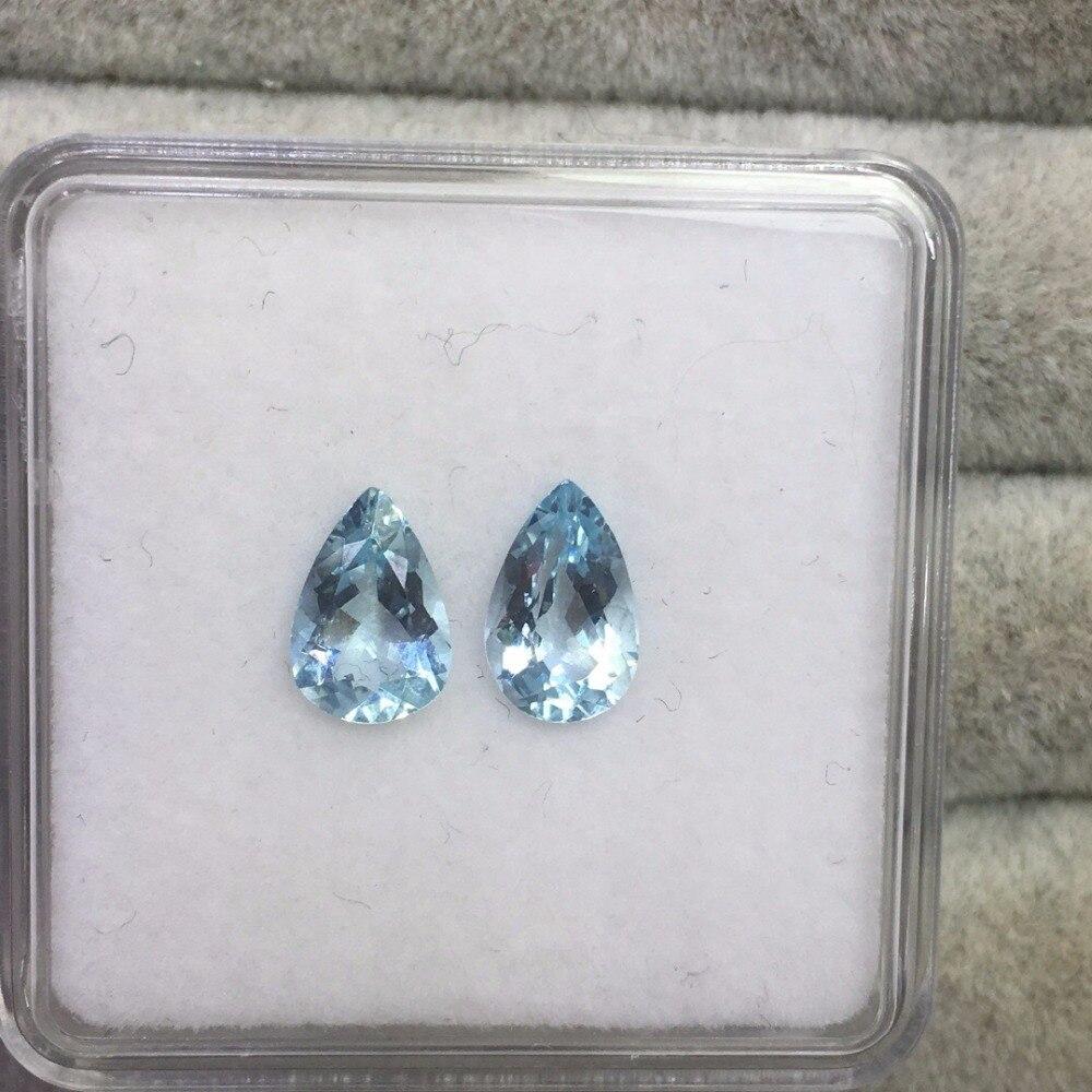 2.31ct Natural Aquamarine Gemstones Loose Stones Loose Gems