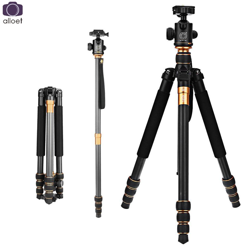 2017 New QZSD Q999C Professional Carbon Fiber DSLR Camera Tripod Monopod+Ball Head/Portable Photo Camera Stand/Better than Q999 new qzsd q888 professional aluminum tripod monopod with ball head for dslr camera to camera camera stand better than q666