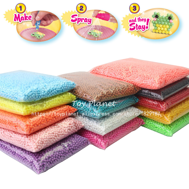 24 farben 6000 stücke 5mm Perler Perlen Magie Wasser Spray Perlen Set Perlen 3D Puzzles Kinder Pädagogisches Spielzeug