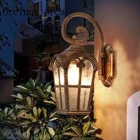 Europeu lâmpada de parede lâmpada de parede impermeável ao ar livre na Roma antiga varanda corredor lâmpada de parede do jardim ao ar livre frete grátis waterproof outdoor wall lamp wall lamp outdoor wall lamp -