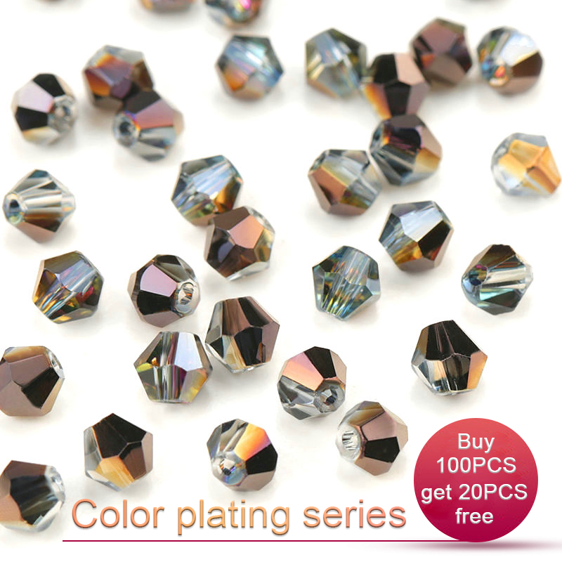 Colour Choice Bead Craft Jewellery Making 4mm-8mm Bicone Crystal Beads