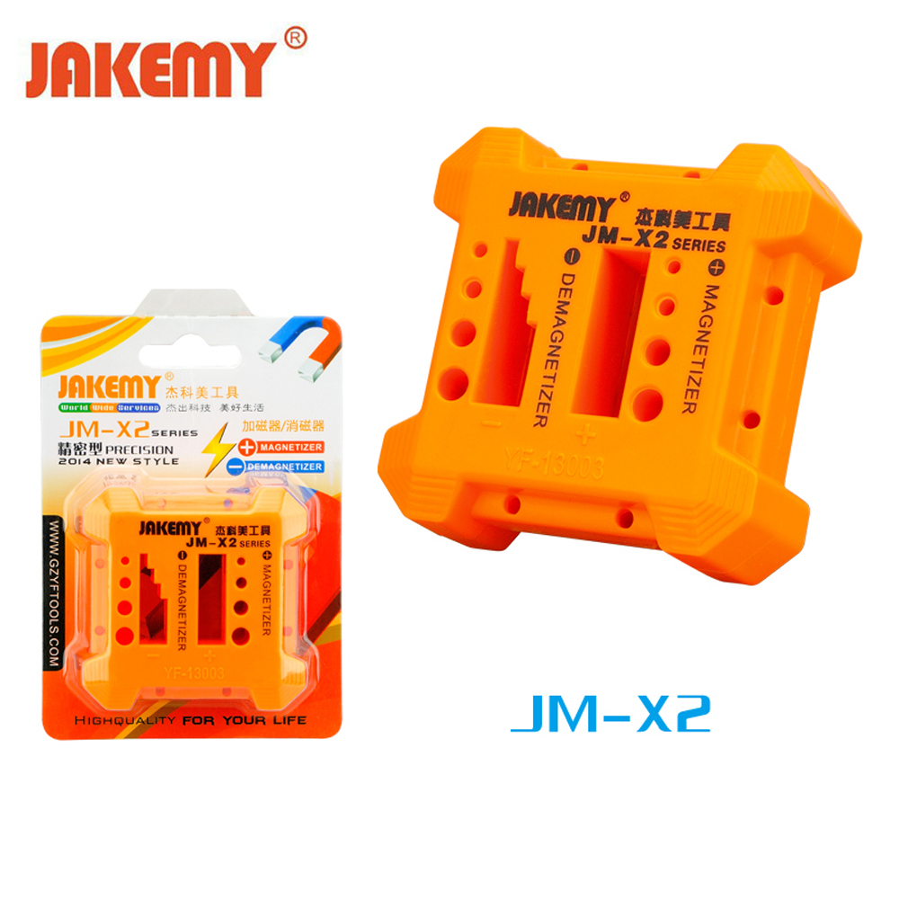 JAKEMY Magnetizer Demagnetizer Hand Tool Porous Position Screwdriver Magnetic Degaussing Repair Tools