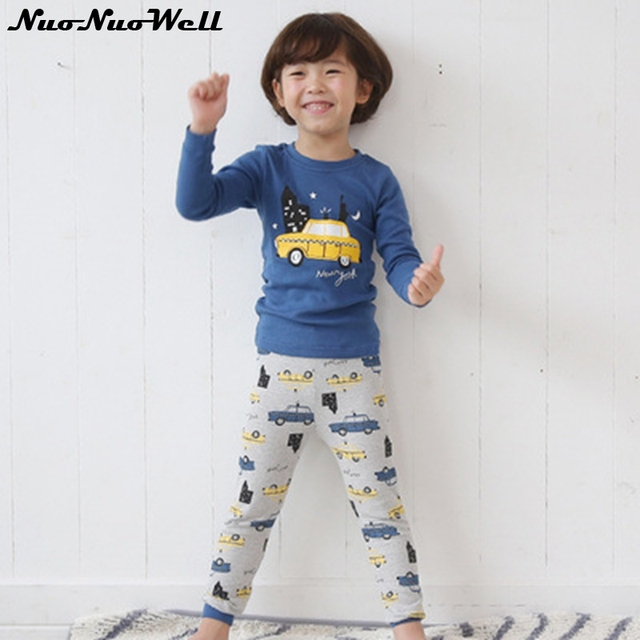 ceab9729c 2 15Y Kids Pajamas Sets Children Sleep Clothes Nightwear Cartoon ...
