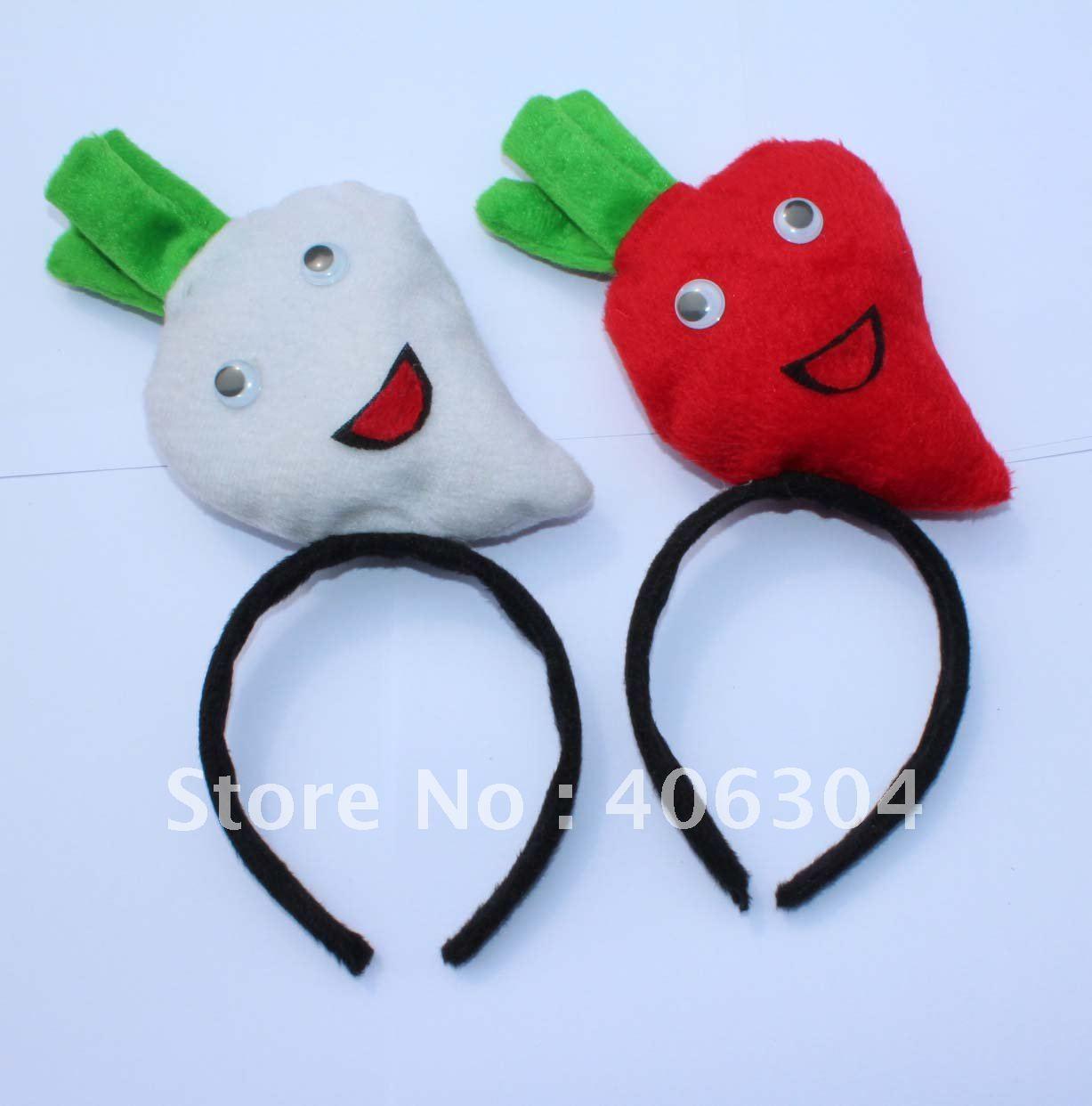Короткий плюш, редис оголовье, морковь оголовье, на Пасху, вечеринка, Рождество, дети день(2 цвета