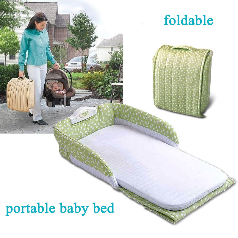 Newborn baby cot infant safety portable folding bed playpens crib multifunctional child travel bed  comfort station for 0-6month portable baby bed folding travelling bed novelty high quality baby folding bed cradles crib infant safety on the go bassinet