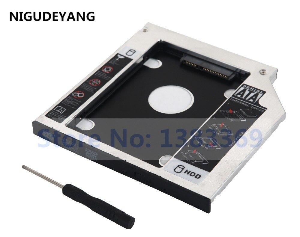NIGUDEYANG 2nd HDD SSD adaptateur de caddie de disque dur pour HP pavillon 15-p239sa 17-F115DX 15-e014nr E4Q17EA