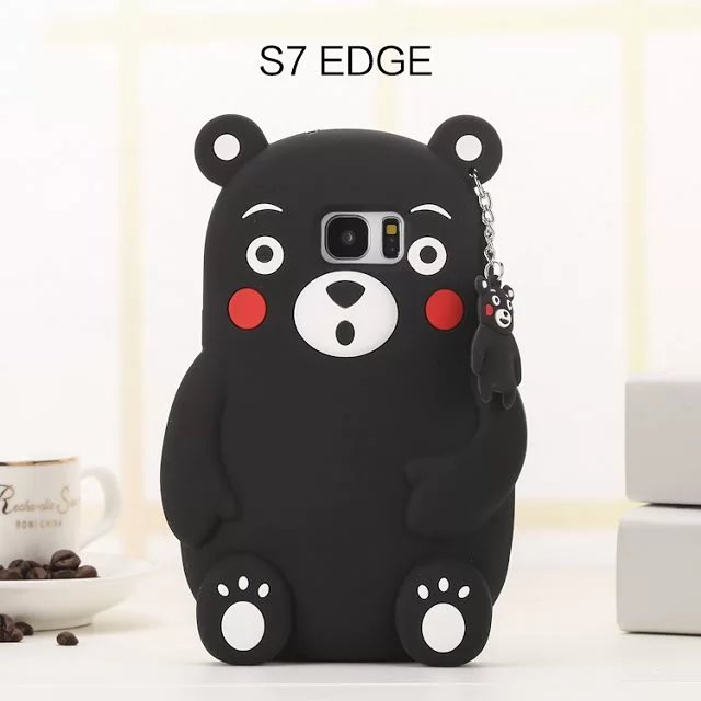 3D Cute Cartoon Bear Silicon Case Samsung Galaxy S4 S5 S6 S6edge S7 S7edge Note3 4 5 A5 A7 E5 E7 J5 J7 A510 A710 G530 Cover  -  Catherine Store store