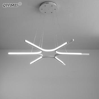 Modern Led Pendant Lights Living Room Restaurant Hang lamp Aluminum Remote Control Dimming Hanging Lighting Fixture Kitchen Lamp
