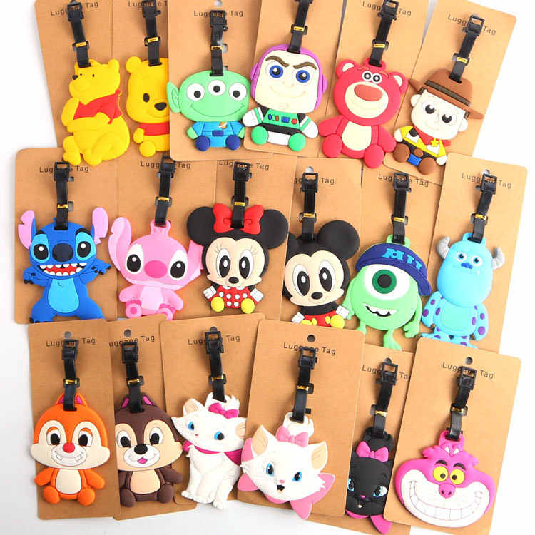 Micky Minie  Mary Cat Cartoon Silicone Luggage Card Travel tag suitcase label travel accessories wholesale