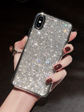 Fashion 3d Crystal Diamond Bling Girl Phone Cover Case For Iphone X Xs Max Xr 10 8 7 6 6s Plus Luxury Soft Silicone Coque Fundas