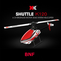 XK K120 Shuttle BNF (zonder afstandsbediening, lader, batterij) 6CH RC Helicopter 2.4 GHz met Borstelloze Motor 3D6G Systeem