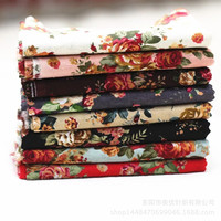 Cotton cloth cotton cloth cloth printing multicolor retro rose pillow fabric sofa cloth wholesale