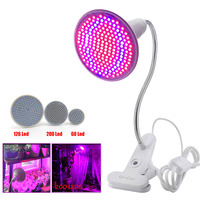 60 126 200 Leds Grow Light With 360 Degrees Flexible Lamp Holder Clip Plant Flower Growth