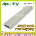 Apexway 4400 mah 11.1 v bateria para dell latitude e6400 atg xfr e6410 e6500 e6510 precision m2400 m4500 w1193 gu715 h1391