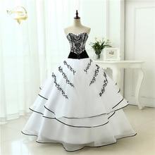 Vestidos de noiva 2015 Classical A line Red Black / White Women Wedding Dresses OW 0199