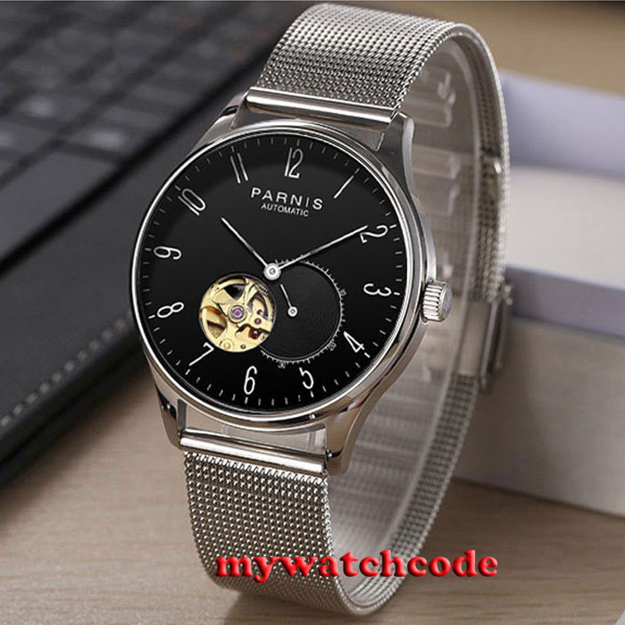 42mm Parnis black dial Sapphire glass golden Miyota automatic mens watch P879 42mm parnis white black dial sapphire glass miyota 8215 automatic mens watch 423