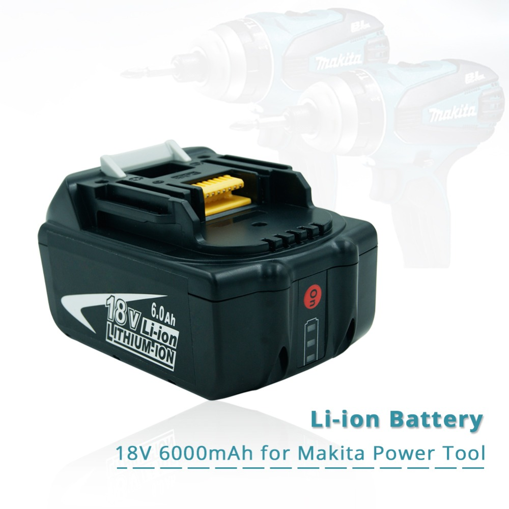 Replacement Makita 18v 6.0Ah Rechargeable Battery w/ LED Light for Makita Power Tool impact driver LXT400 BL1850 BL1845 TD251DZReplacement Makita 18v 6.0Ah Rechargeable Battery w/ LED Light for Makita Power Tool impact driver LXT400 BL1850 BL1845 TD251DZ