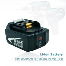 Замена Makita 18 в 6.0Ah перезаряжаемые батарея w светодиодный свет для Makita Мощность Инструмент ударный драйвер LXT400 BL1850 BL1845 TD251DZ