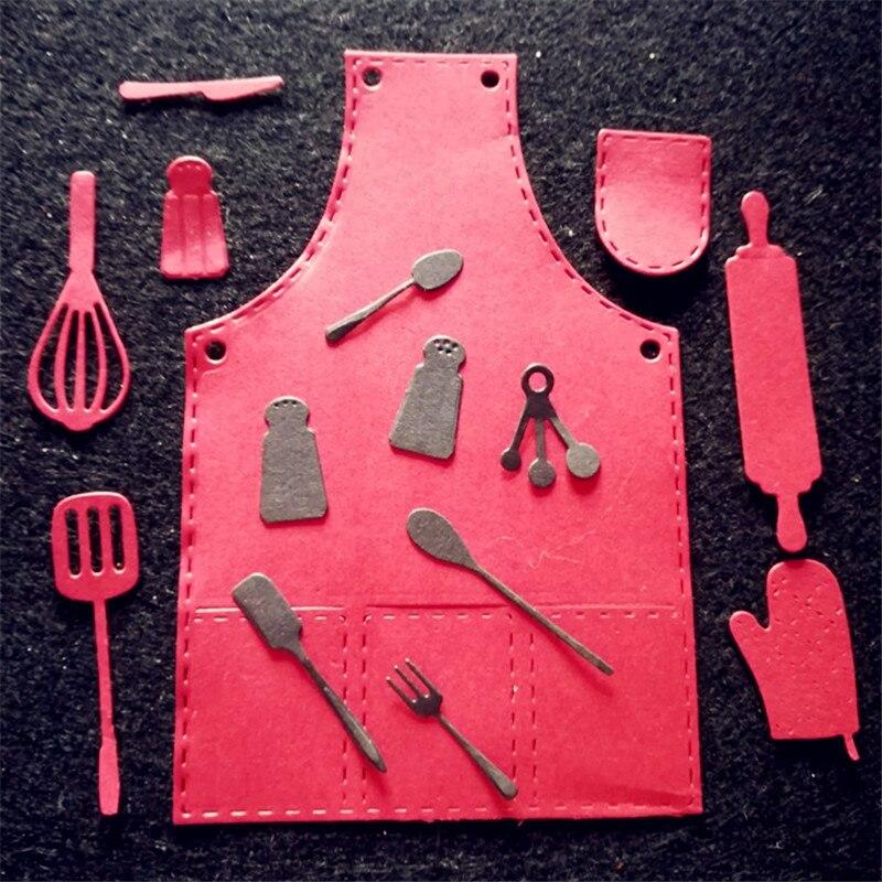 Nieuwste Collectie Van Aokediy Keuken Schort Gereedschap Patroon Metalen Stansmessen Stencil Scrapbooking Fotoalbum Kaart Papier Embossing Craft Diy Een Grote Verscheidenheid Aan Modellen