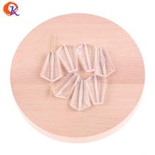 Cordial Design 35x23mm 120Pcs / Lot (Design Mint látható) Akril tiszta körte formájú gyöngyök készítéséhez ékszer nyaklánc készítése