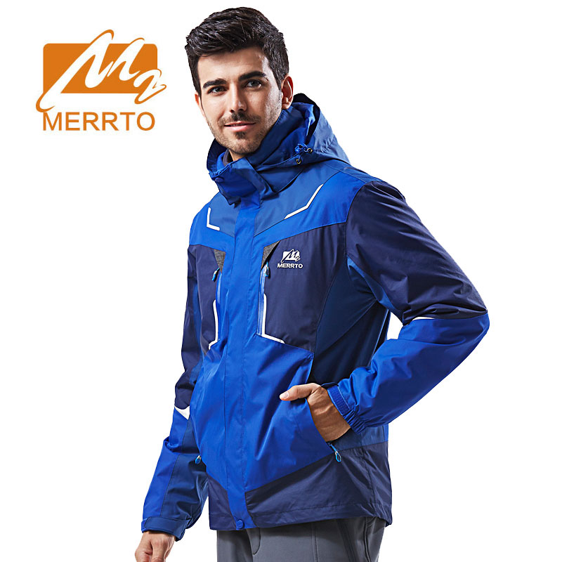 где купить MERRTO Men Hiking Jackets Outdoor Jacket Waterproof Windproof Hunting Clothes Windbreaker Fleece Breathable Trekking Jackets по лучшей цене