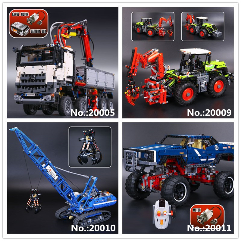 LEPIN 20005 Arocs 20009 Heavy Tractors 20010 Crawler Crane 20011 off-road vehicles Building Block Toys 42043 41999 42054 42042 lepin 20011 1605 pcs super classic limited edition of off road vehicles model building blocks bricks compatible toy 41999