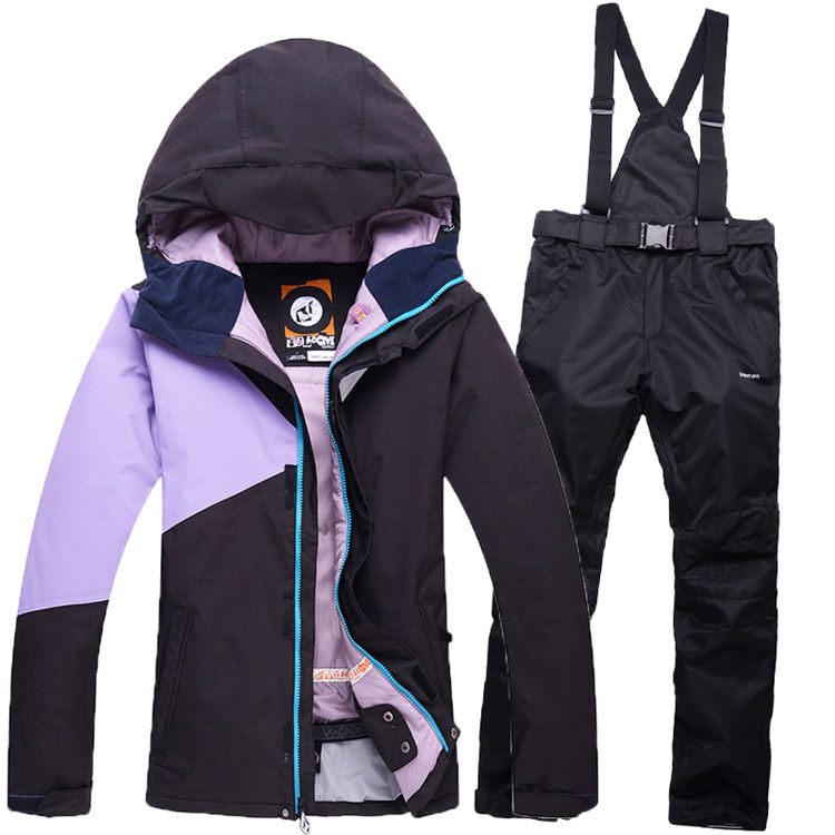 Colorful Coat Woman Ski Suit Sets Ladies Skiing font b snowboard b font Clothing waterproof windproof