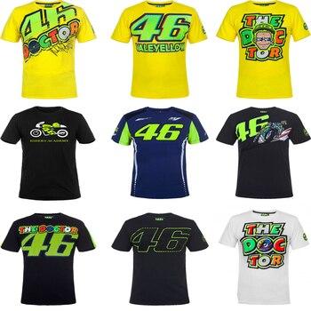d91b9ec7 2017 Valentino Rossi VR46 Dual Moto GP T-shirt Sport Racing Mens Motorcycle  Summer Tee