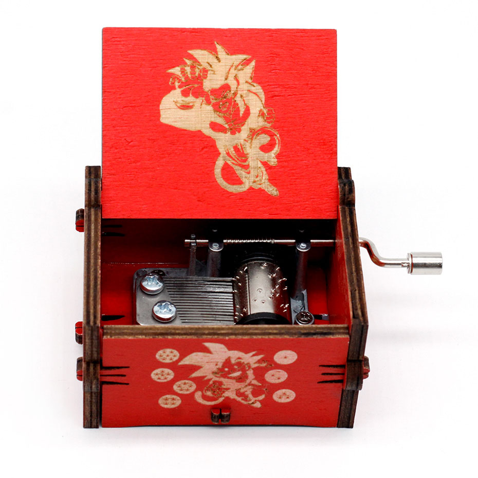 New Carved Queen Music Box Star Wars Game of Throne Castle In The Sky Hand Cranked Wood Music Box Christmas Gift - Цвет: Dragon Ball GT