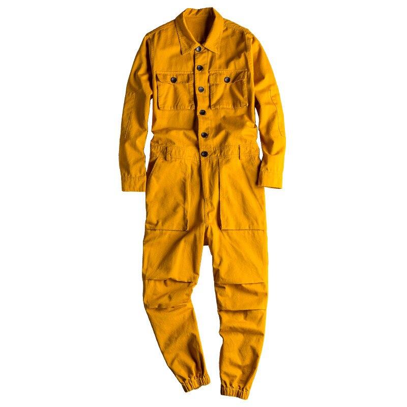 Mode moderne jean pour hommes salopette salopette Hip Hop combinaisons avec Multi poches vêtements de travail combinaisons jarretelles pantalon pour homme