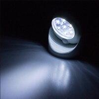 6V 7 LEDs Cordless Motion Activated Sensor NLight Light Lamp 360 Degree Rotation Wall Lamps White