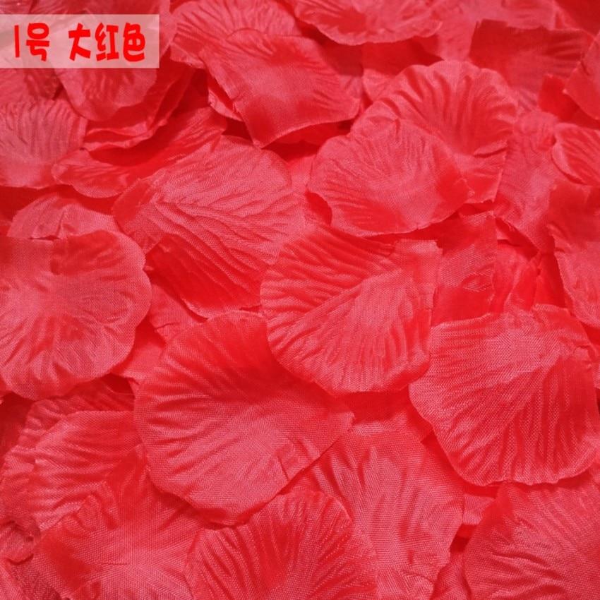 300pcs Silk Artificial Decorative Flower Rose Petals Wedding Party