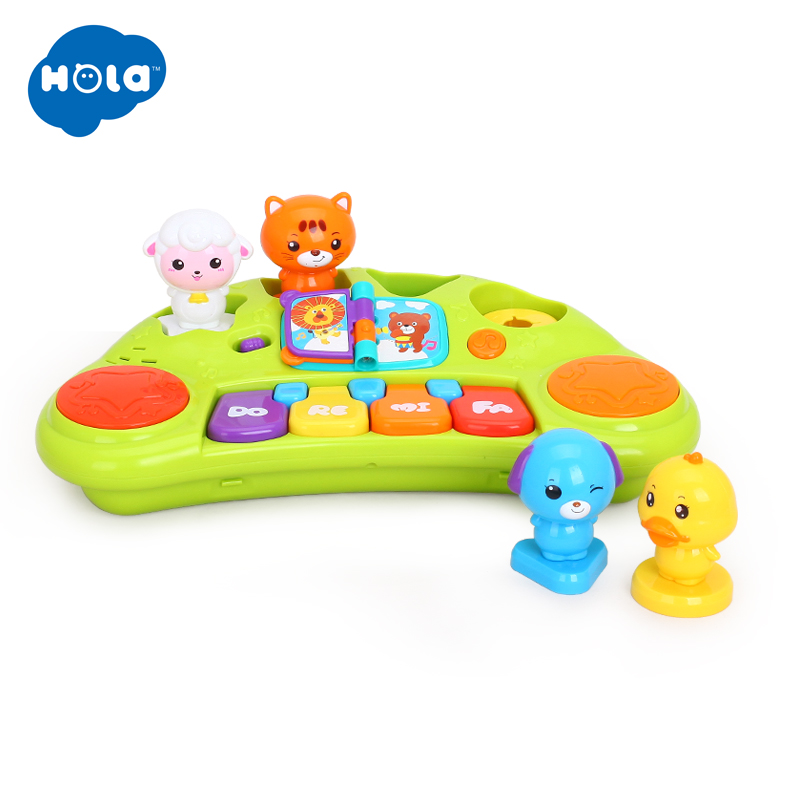 HOLA 2103A Kids Learning Education Electronic Toys Musical Educational Animal Piano Developmental Music Toy for Children