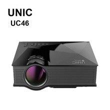 Unic uc46 40 wifi wireless mirror miracast proyección 1200 lúmenes hd led multimedia mini proyector proyector digital hdmi projetor