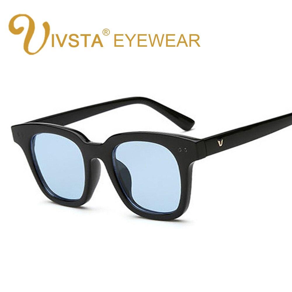 9a952f17015 IVSTA Korean Sunglasses with logo Yellow lenses Ice Sea Women Butterfly V Brand  Designer party Men