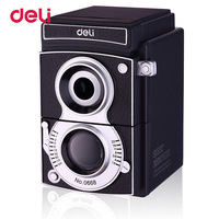 Deli Vintage Camera Mechanical Pencil Sharpener School Office Creative Manual Pen Sharpeners Gift For Kids