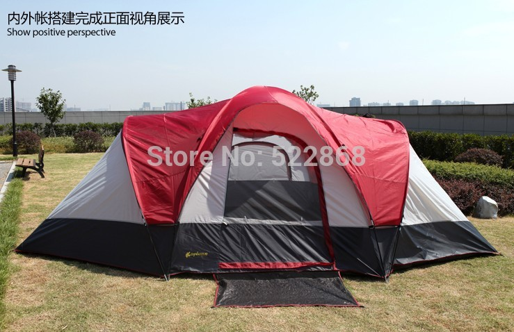 2015 New style ultralarge 8 -10 people 3 bedroom double layer waterproof camping tent 2015 10