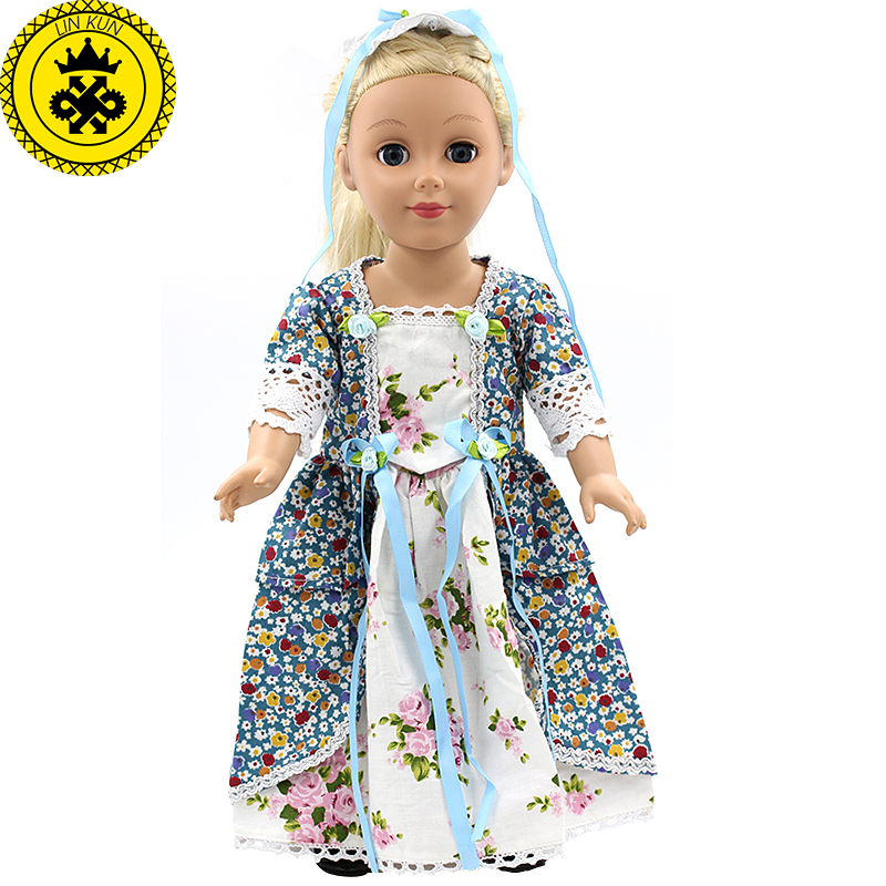 Dolls Accessories Japan Fashion Multicolor Print Dress Outfit Fits American Girl Doll and other 18 inch Dolls MG72-73 american girl doll clothes for 18 inch dolls beautiful toy dresses outfit set fashion dolls clothes doll accessories